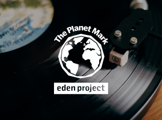 Planet Mark Logo on an image of the RT100 turntable